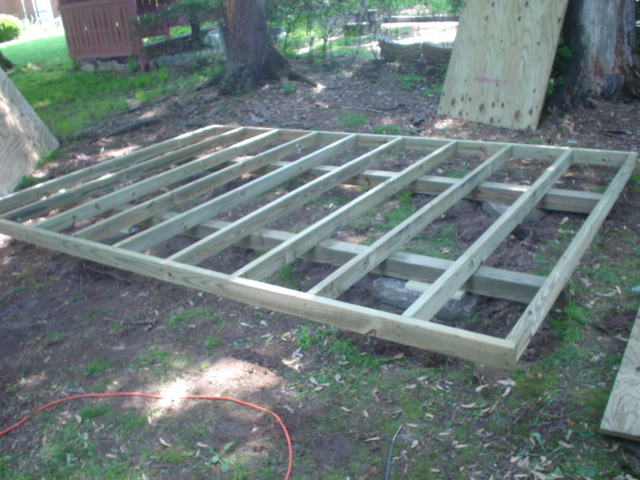 Wood to use for shed floor